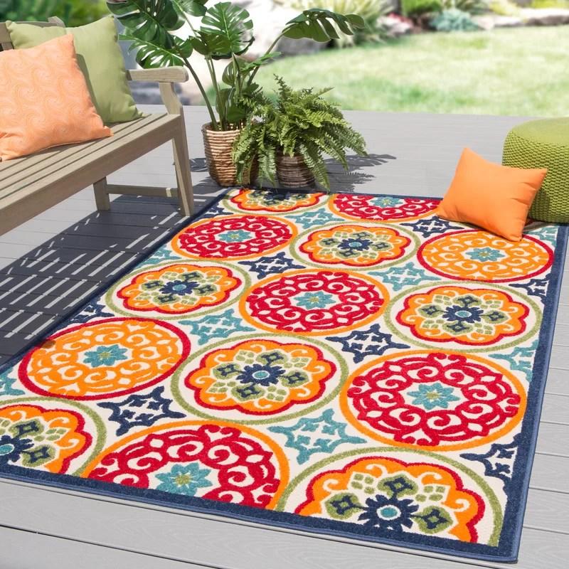 southington oriental red orange indoor outdoor area rug