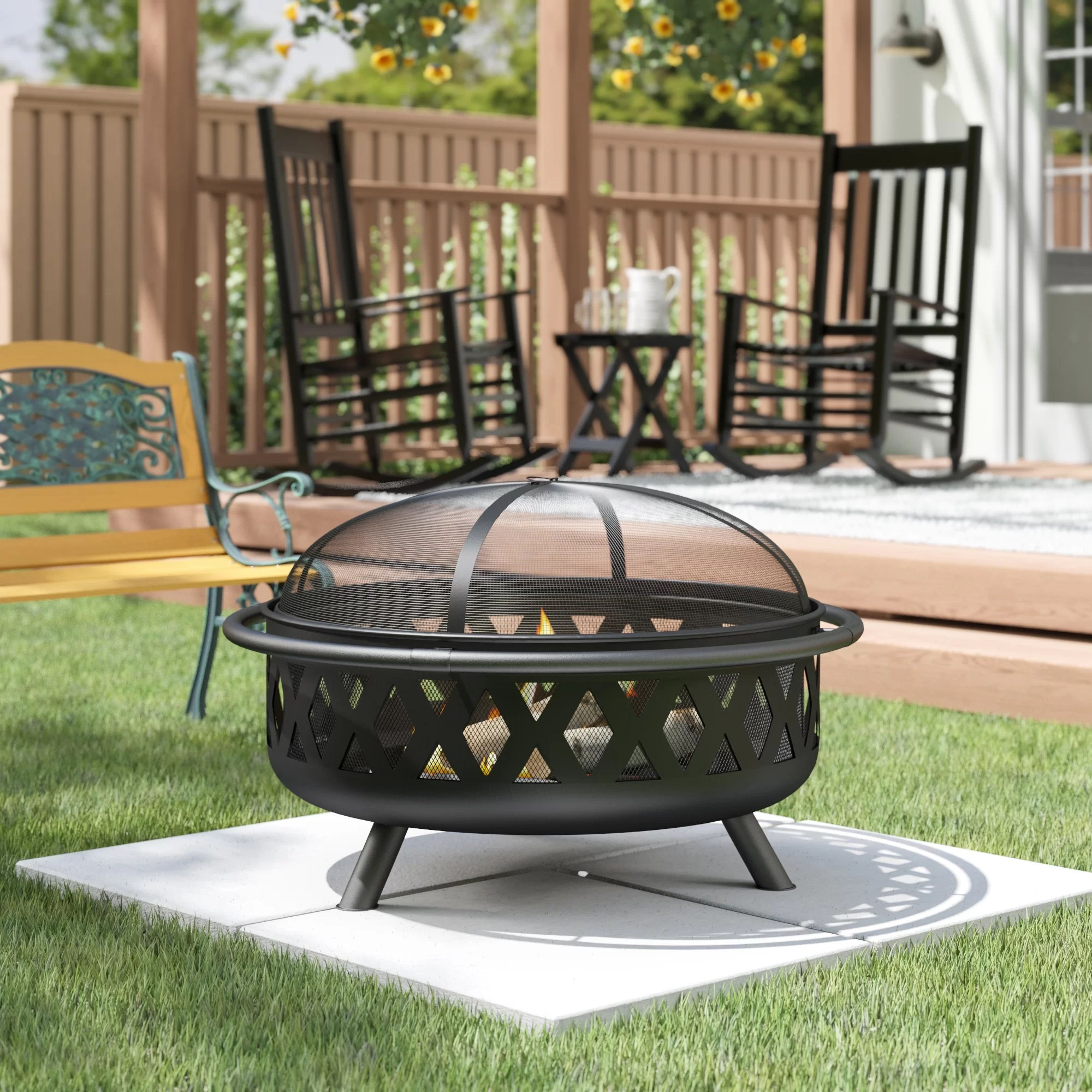 Sol 72 Outdoor Derbyshire Steel Wood Burning Fire Pit Reviews Wayfair