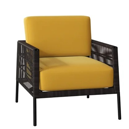 luxury yellow outdoor lounge chairs