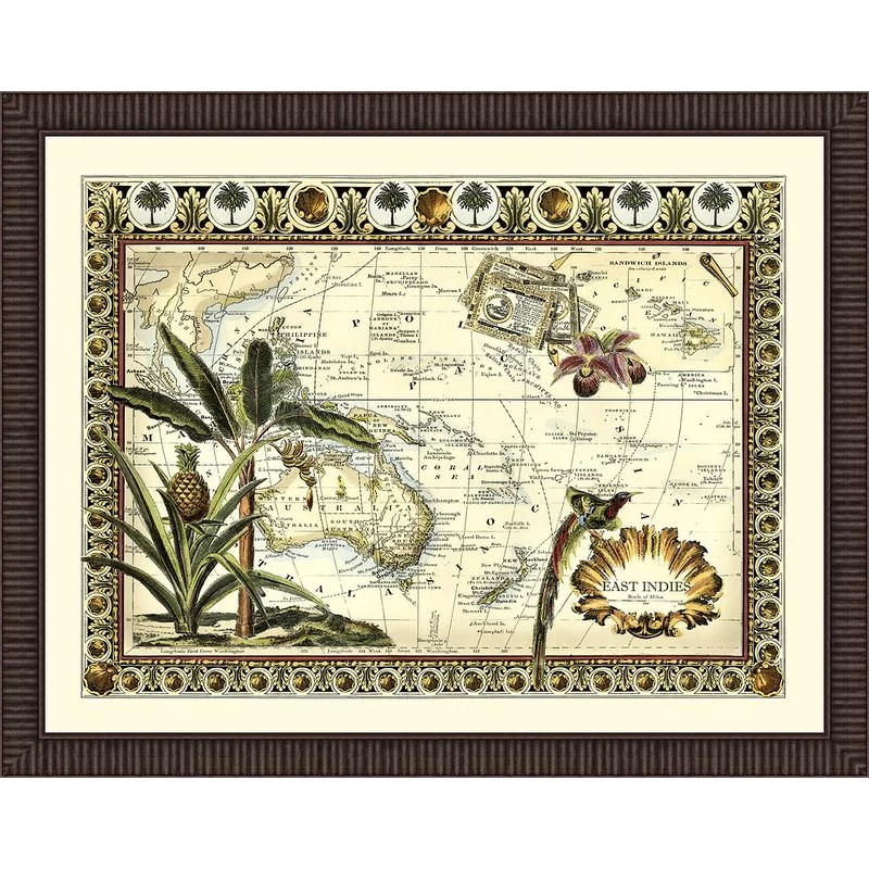 Trends Tropical Map of East Indies Framed Graphic Art