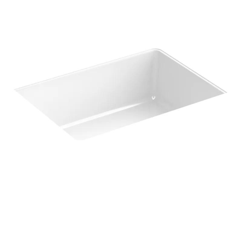 verticyl rectangle under mount bathroom sink