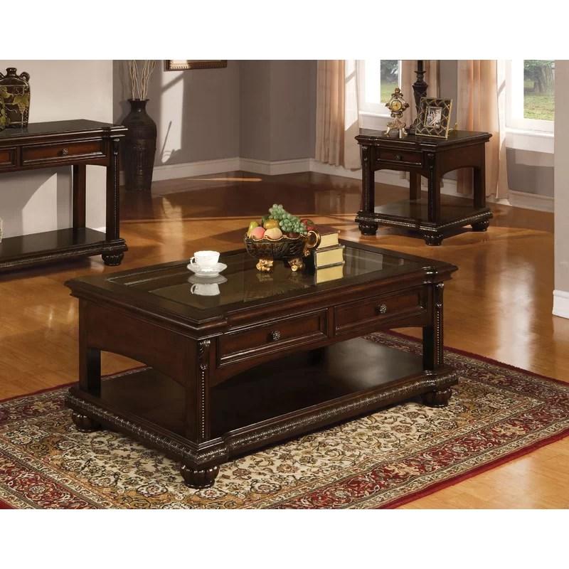 epple creative modern elegant design 50 l x 30 w x 20 h office home utility console drawer shelf storage display glass top coffee table cherry