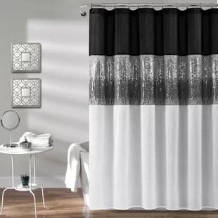 pruneda striped single shower curtain