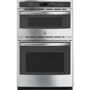 27 self cleaning electric wall oven with built in microwave