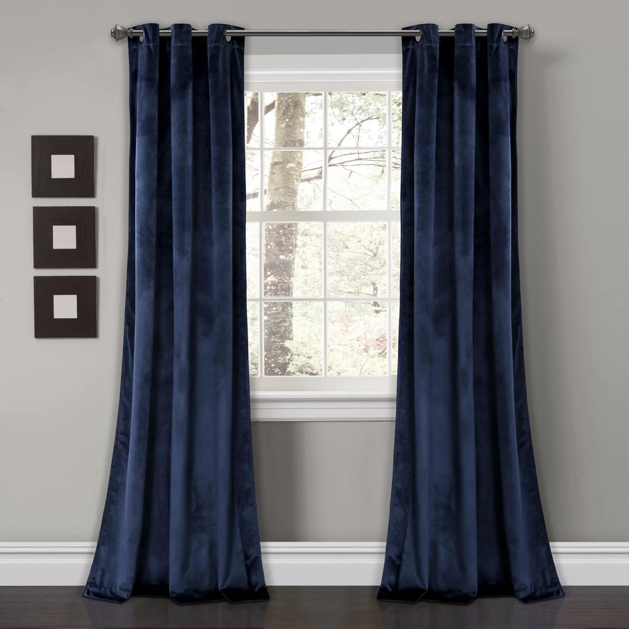 belknap solid room darkening grommet curtain panels