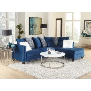 denim living room furniture images of modern white rooms dark blue sectional sofa wayfair crossover