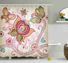 Bungalow Rose Darcelle Asian Style Butterflies Shower