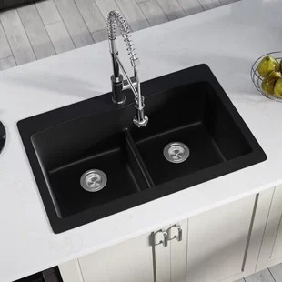 black kitchen sinks how much does a remodeled cost 33 x 19 sink wayfair save
