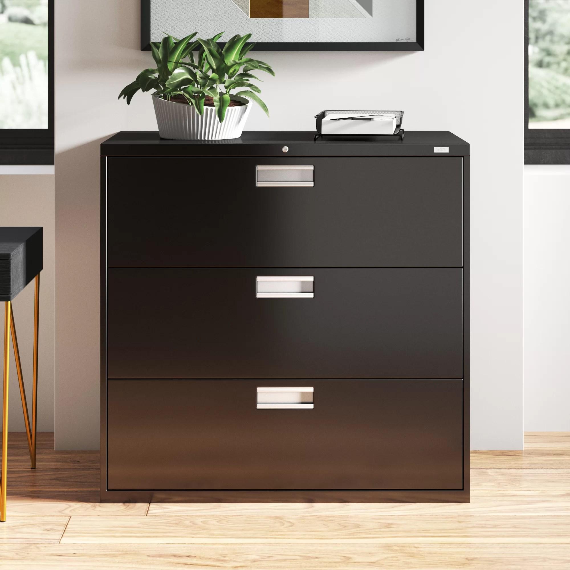 Hon 600 Series 42 W 3 Drawer Lateral Filing Cabinet Wayfair