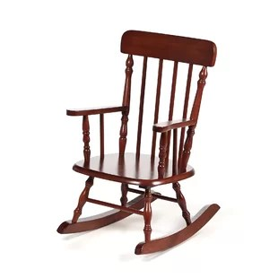 kids wood rocking chair directors outdoor chairs you ll love wayfair quickview