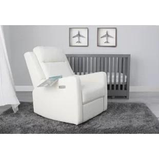 modern recliner chair high tutu skirt contemporary recliners you ll love wayfair sanora power swivel