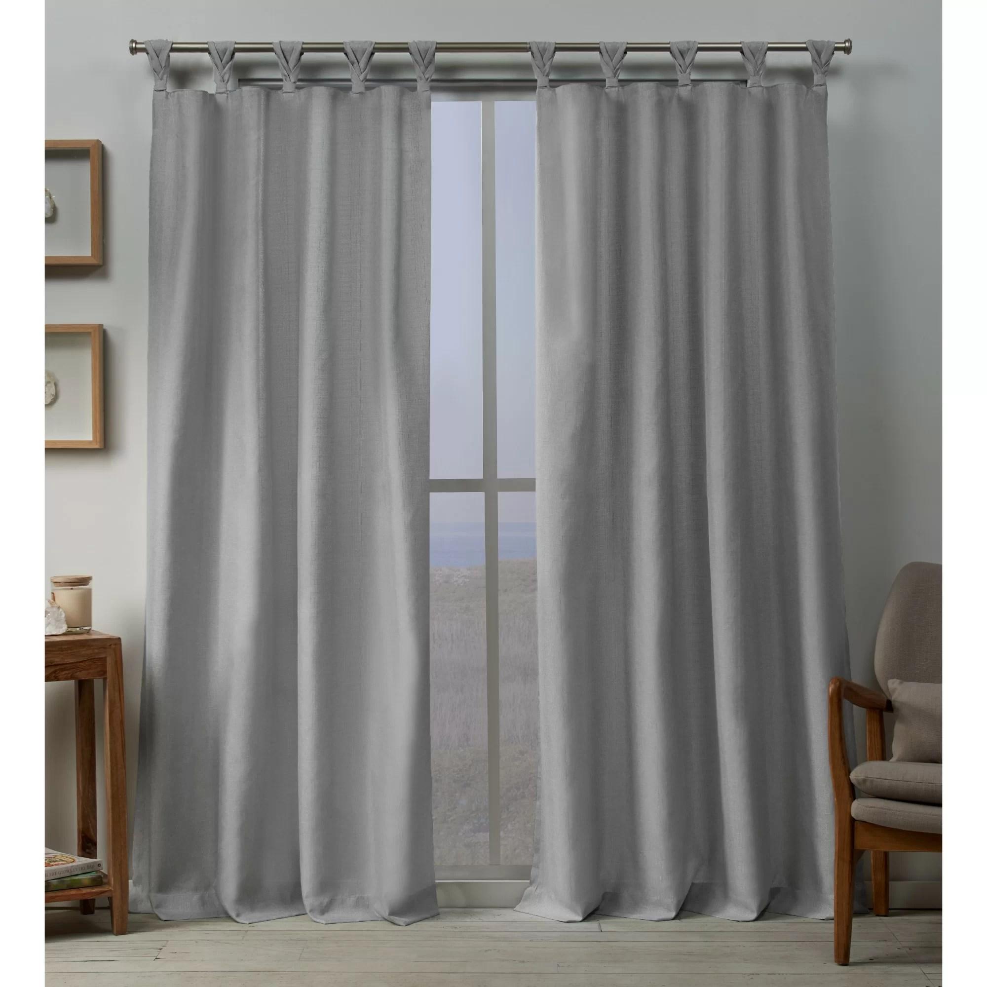 ali solid color room darkening tab top curtain panels