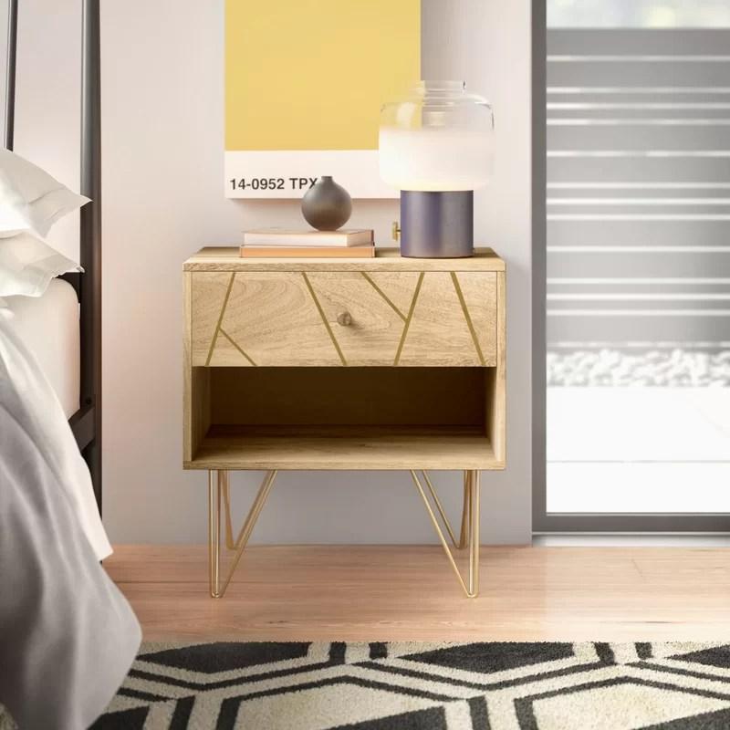 elisabeth 1 drawer nightstand