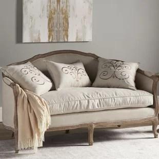 settee living room sets backless wayfair folmar