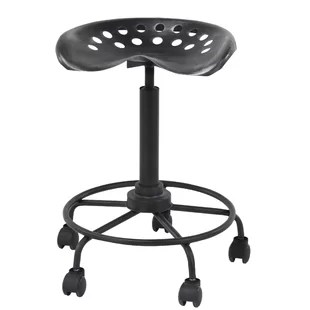 stool chair on wheels glider rocking with ottoman bar wayfair steelton modern adjustable height