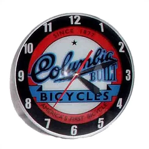Double Bubble 14.5 Columbia Bicycle Wall Clock
