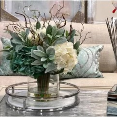 Living Room Flowers Mid Century Furniture Artificial Flower Arrangements You Ll Love Wayfair Hydrangeas Floral Arrangement In Glass Vase