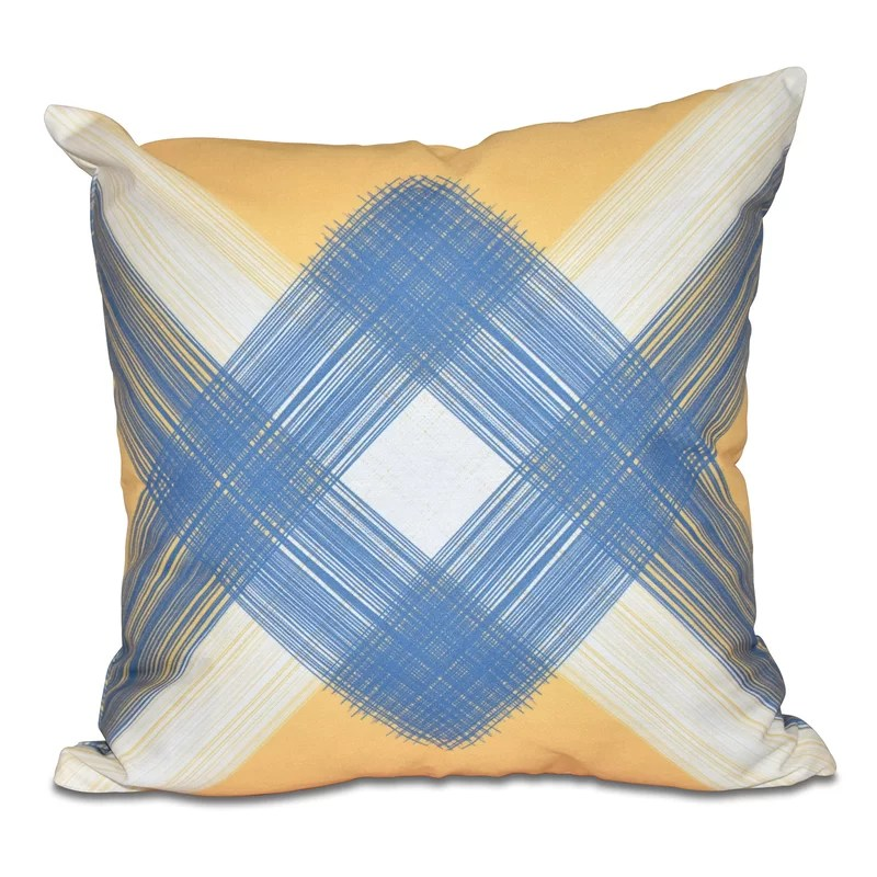 Hancock String Art Geometric Print Throw Pillow Size: 18 H x 18 W Color: Yellow