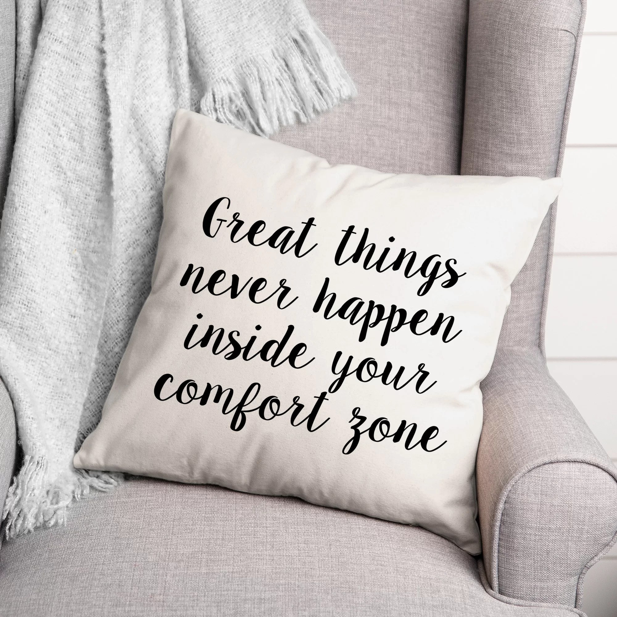 latitude run ashima great things never happen inside your comfort zone throw pillow wayfair