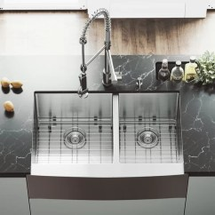 60 40 Kitchen Sink Buffet Hutch Vigo 33 Inch Farmhouse Apron Double Bowl 16 Gauge Stainless Steel With Zurich Faucet Two Grids Strainers And Soap