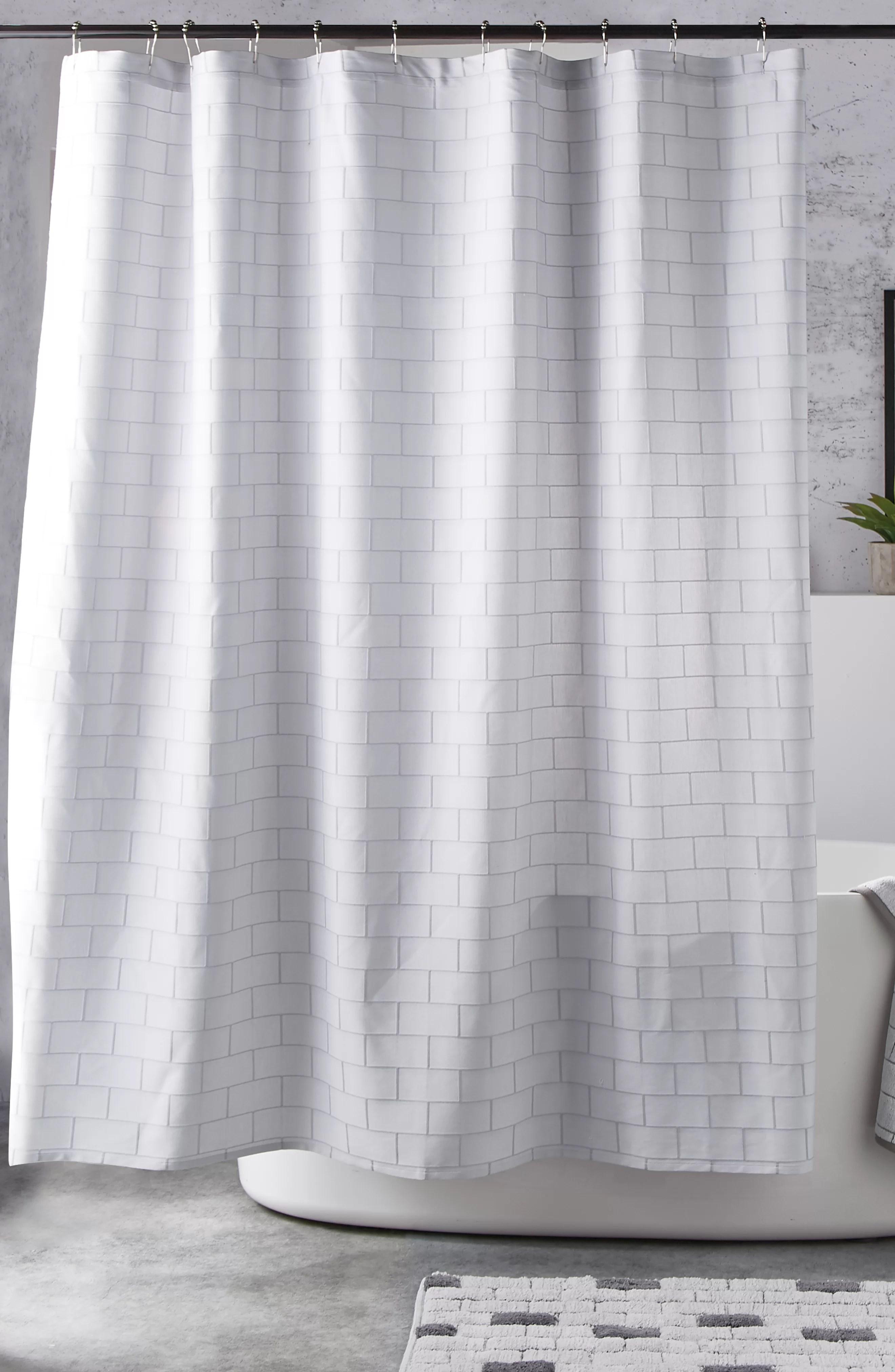 Subway Tile Single Shower Curtain