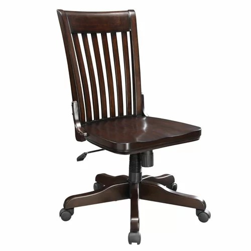 wood office chair damask covers chairs you ll love wayfair ca