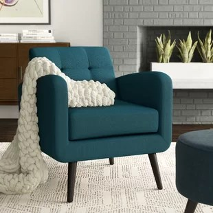 teal living room chair japanese style furniture blue accent chairs you ll love wayfair quickview