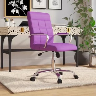 lilac office chair grey leather dining chairs with chrome legs purple you ll love wayfair quickview