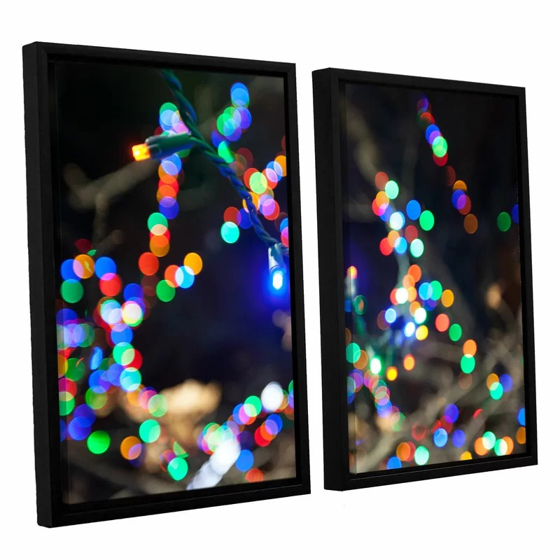 Bokeh 3 by Cody York 2 Piece Framed Graphic Art on Canvas Set Size: 24 H x 36 W x 2 D