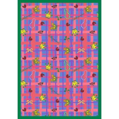 Pink/Blue Area Rug Rug Size: 310 x 54