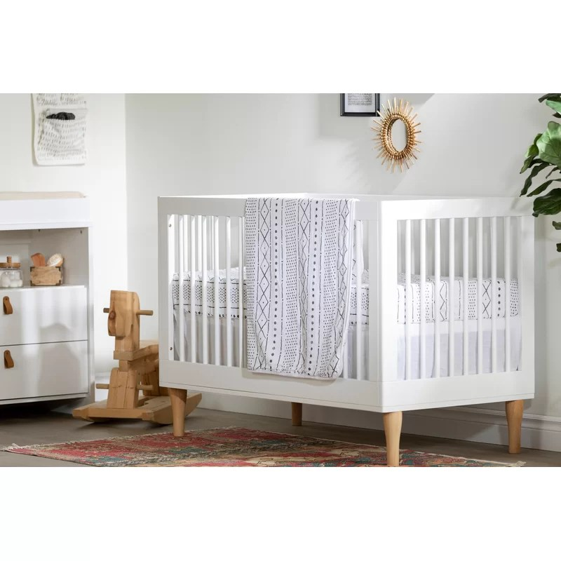 dreamit muslin 3 piece crib bedding set