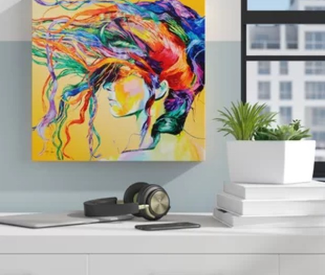 Windswept Framed Graphic Art Print On Canvas