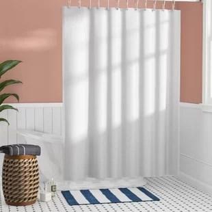 santalaris solid color shower curtain liner