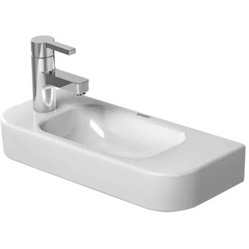 Happy D. Ceramic 20 Wall Mount Bathroom Sink