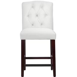 white tufted chair rolling bath wayfair quickview