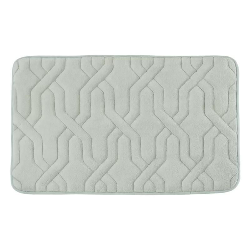 Drona Premium Micro Plush Memory Foam Bath Mat Size: 20 W x 32 L Color: Light Grey