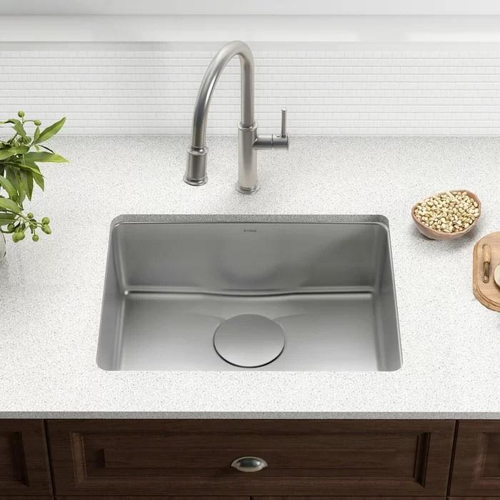 kitchen sinks pictures of remodeled kitchens kraus dex series 25 x 19 undermount sink reviews wayfair ca