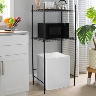 galgano 53 h x 24 w x 18 d microwave and mini fridge storage rack