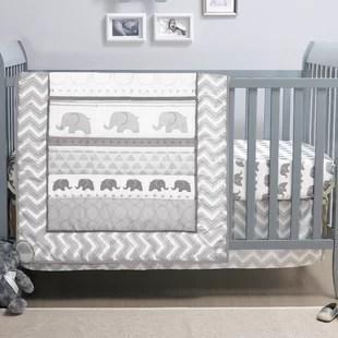 escher walk 3 piece crib bedding set
