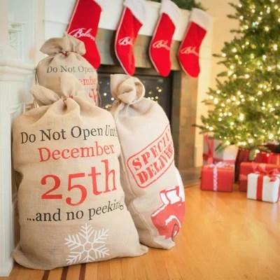 santa sack present bag