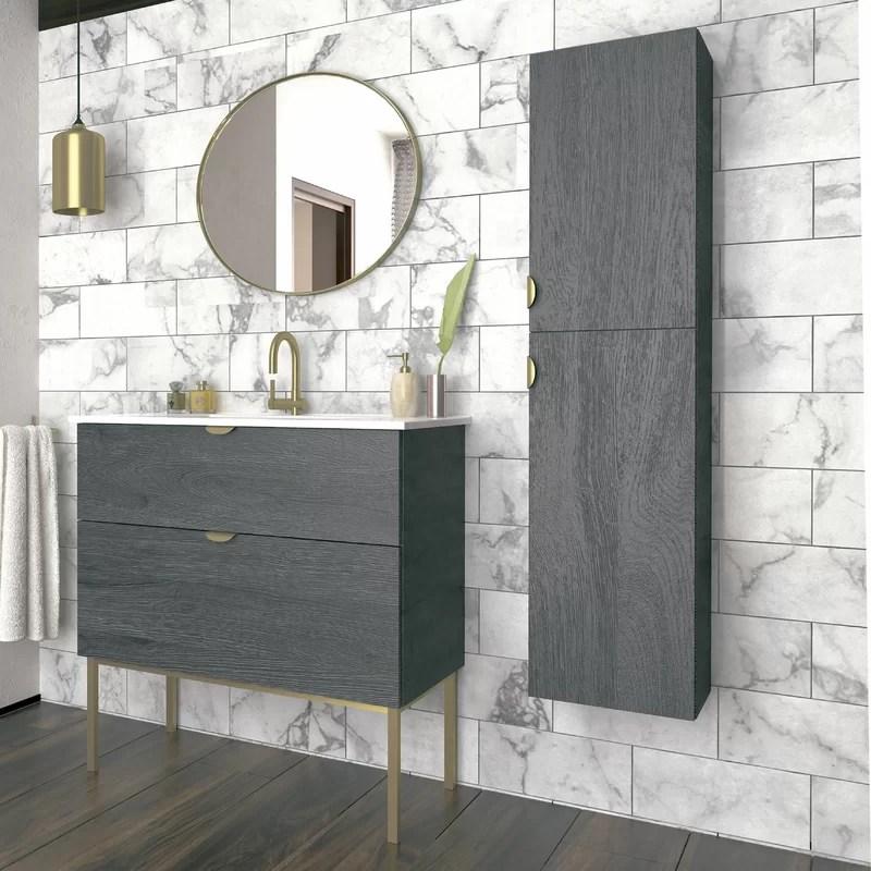 Foundstone Bronx 14 W X 59 H X 13 D Linen Cabinet Wayfair