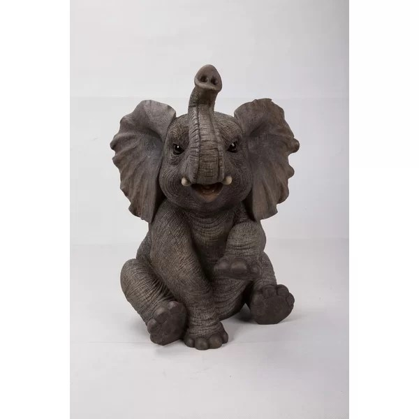 HiLine Gift Ltd Sitting Elephant Baby with Trunk up