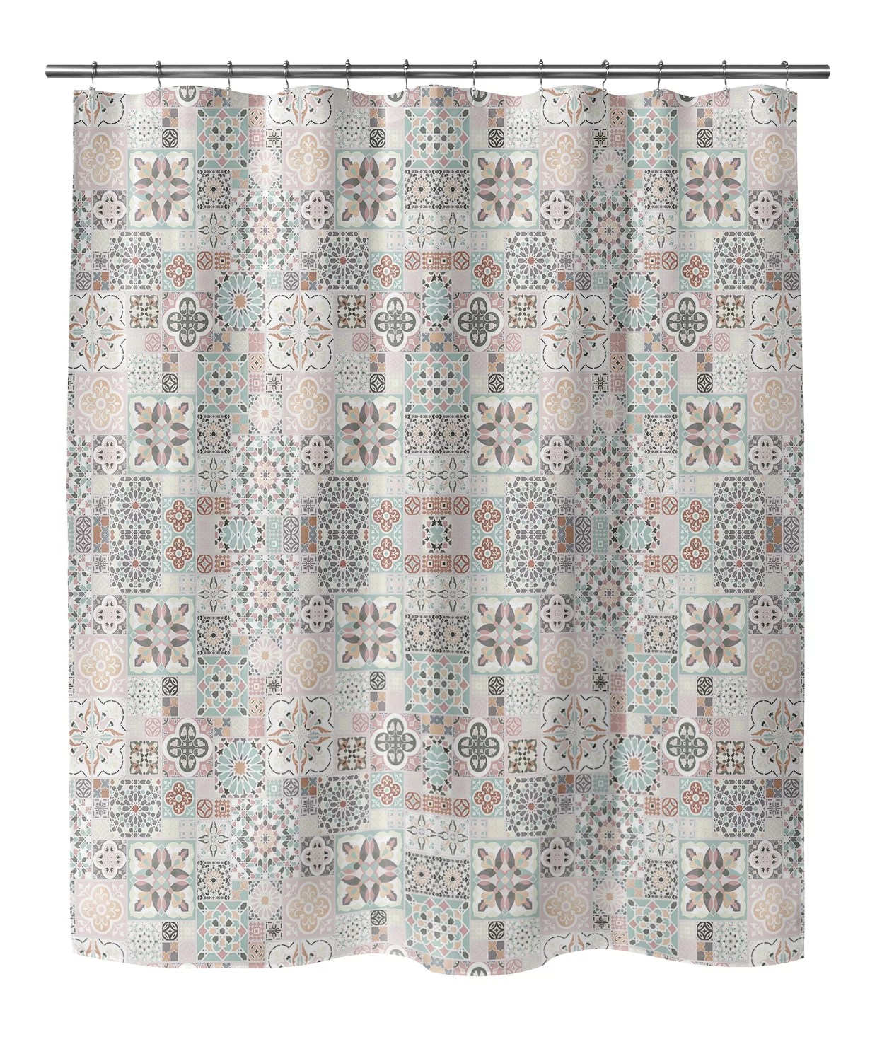 morro patchwork single shower curtain