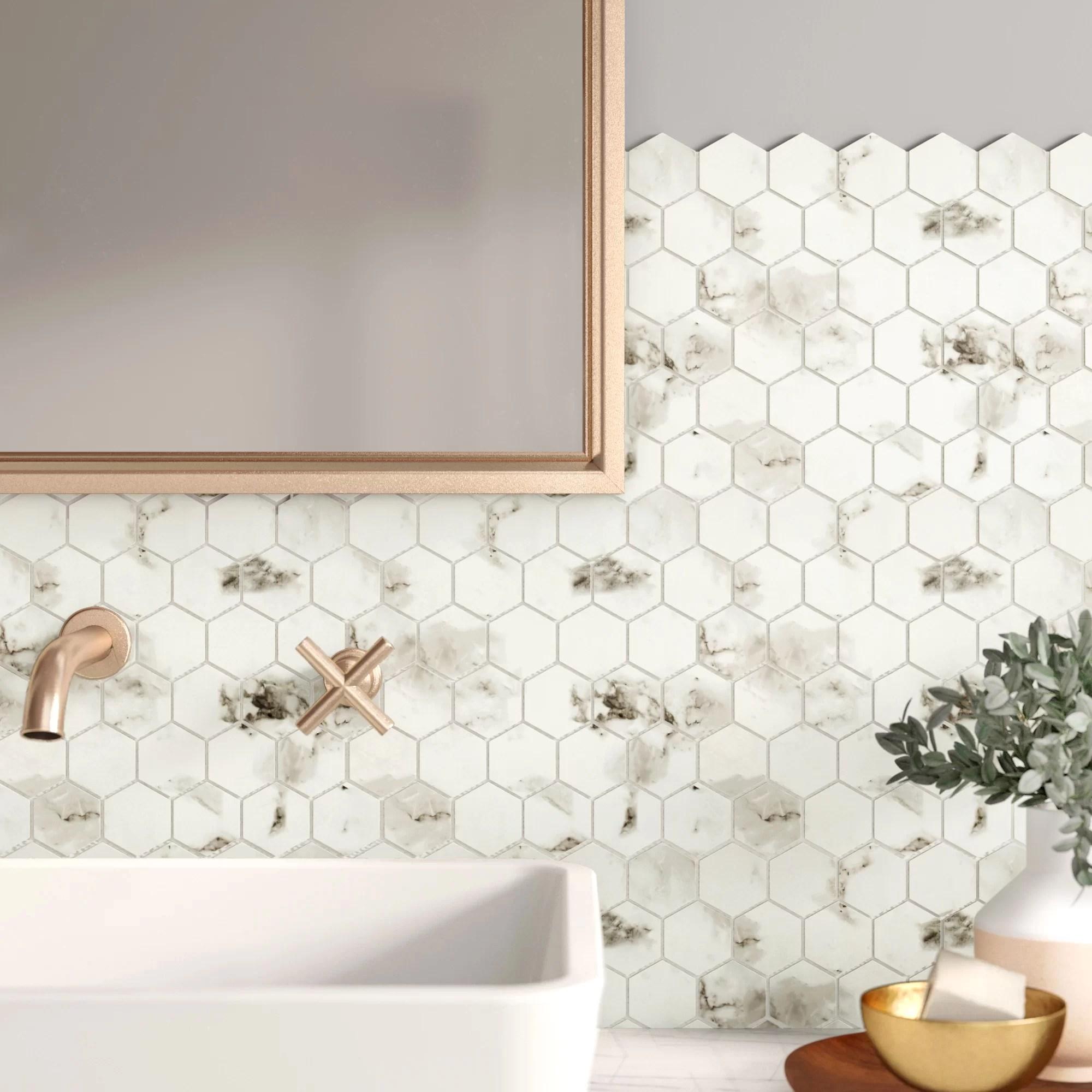 elizabella 2 x 2 porcelain mosaic tile
