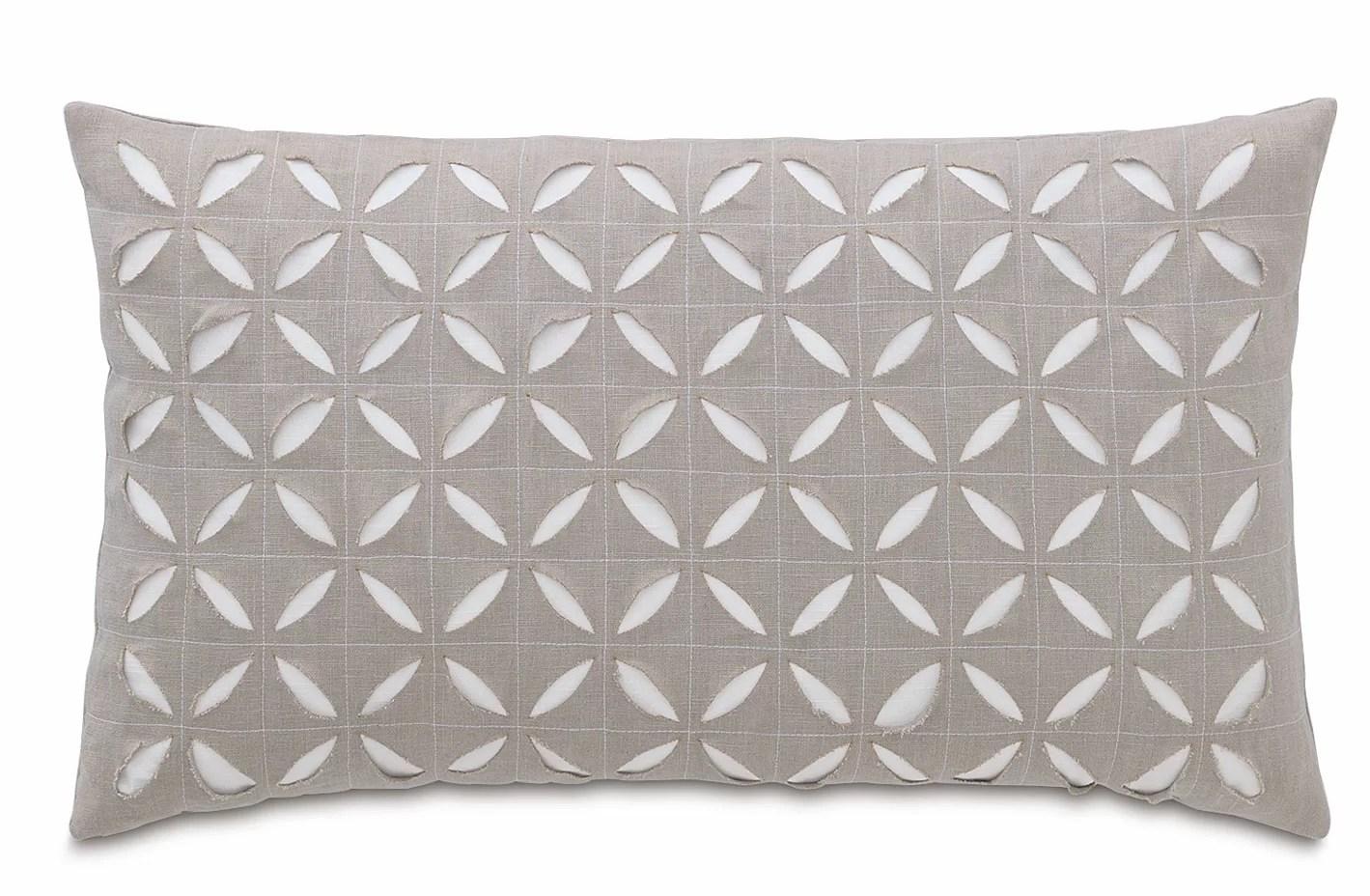 eastern accents amara linen geometric lumbar pillow perigold