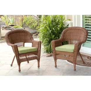outdoor chair lounge high patio chairs joss main burrowes wicker with cushion set of 2