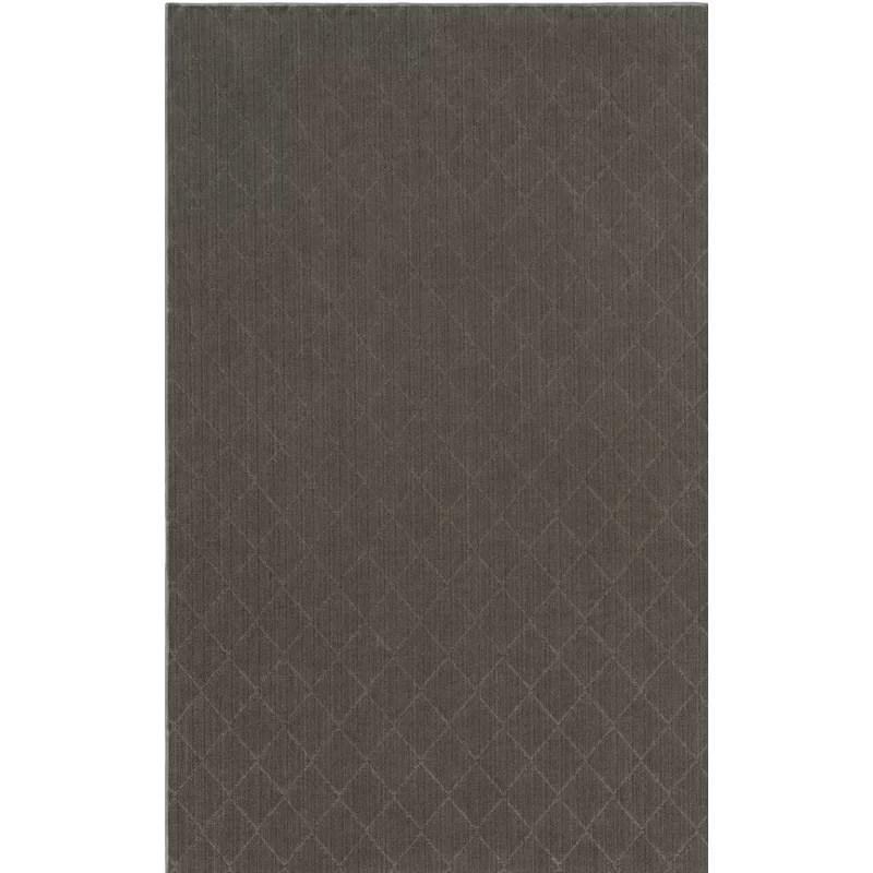 Huxley Viscose Gray Area Rug Rug Size: Rectangle 9 x 12