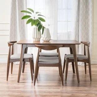 modern kitchen sets decorating mid century dining room you ll love wayfair millie 5 piece set