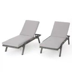 Outdoor Chaise Lounge Chairs With Wheels Electric Stair Chair Lift Cost Patio Lounges Joss Main Thebes Reclining Cushion Set Of 2