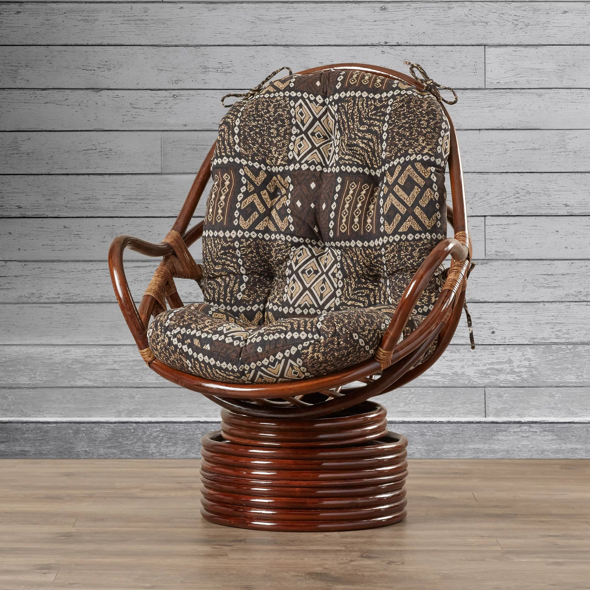 Swivel Rocking Chairs Sandstone Rattan Swivel Rocker